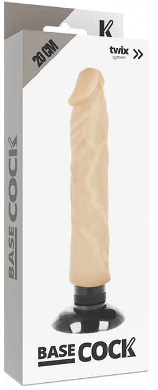 Basecock Realistic Vibrator 2-1 Flesh 20cm