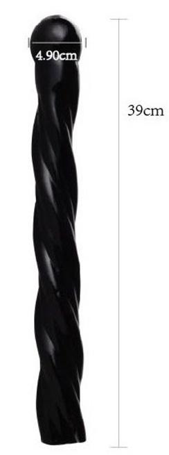 BLACK GO BIG 12 anální kolík délky 39cm