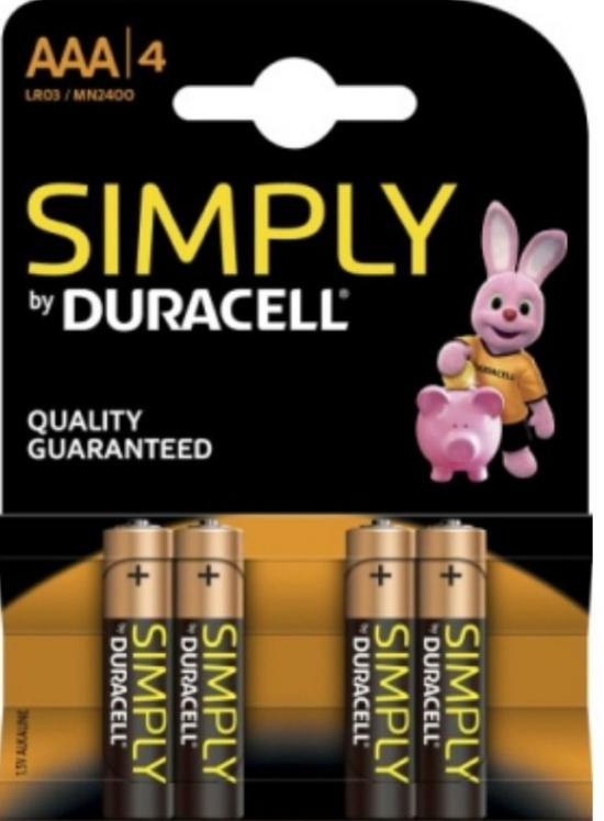 Duracell Simply Alkaline Battery  Aaa Lr03