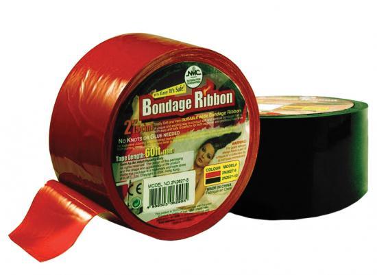 Bondage páska červená,18 m