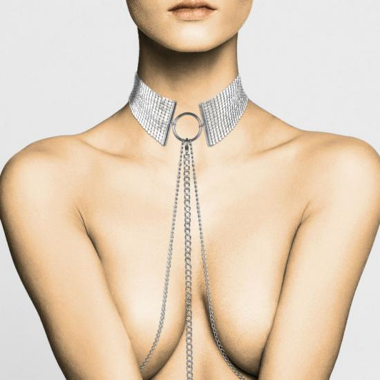 Metallic Mesh Silver Necklace