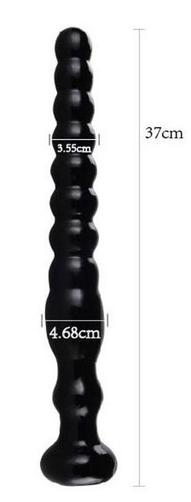 BLACK GO BIG 10 anální kolík délky 37cm