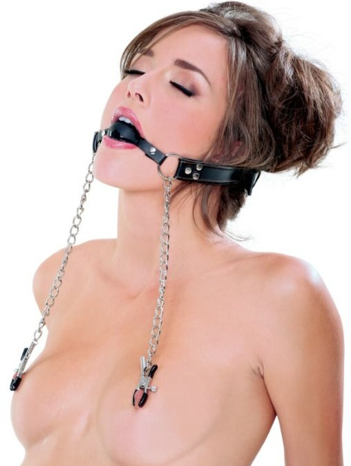 Extreme Deluxe Ball Gag And Nipple Clamps