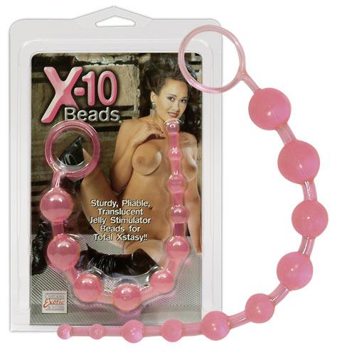 Anální kuličky Anal beads X-10 černé