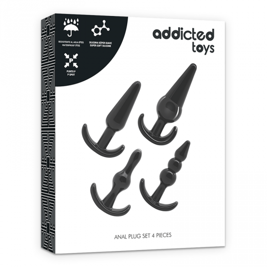 Addicted Toys 4 Silicone Anal Plugs Set