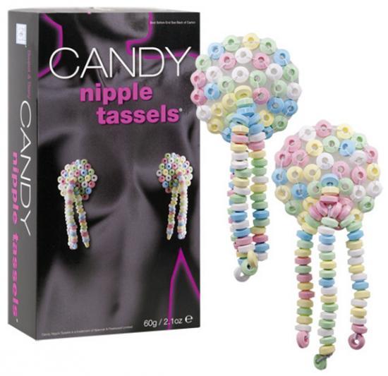 Jedlé bonbónky na bradavky Candy Nipple Tassels