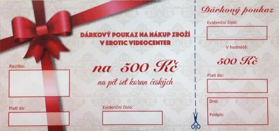 Dárkový poukaz na nákup zboží v hodnotě 500 Kč
