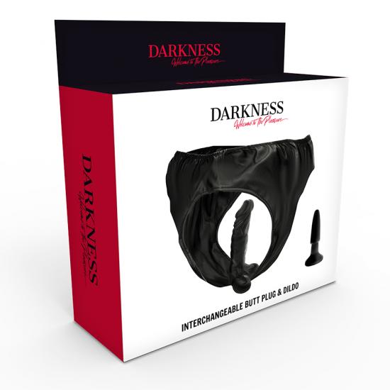 Darkness Butt Plug And Dildo