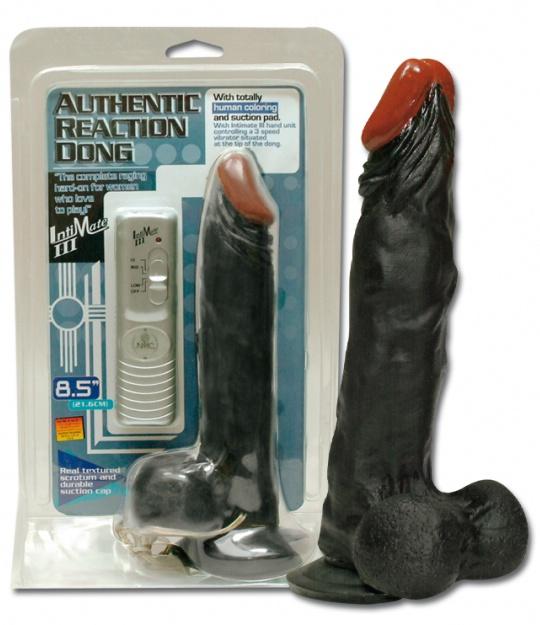 Černý gelový penis s přísavkou,21 cm