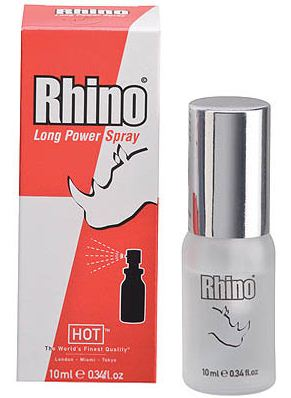 Hot Rhino Long Power Spray 10 ml k oddálení ejakulace