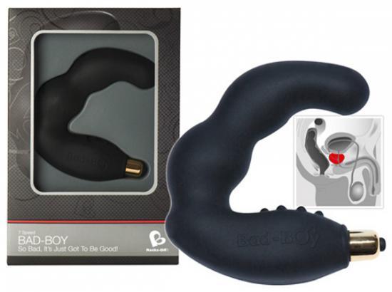 Bad Boy Black 7speed - hladký silikonový vibrátor