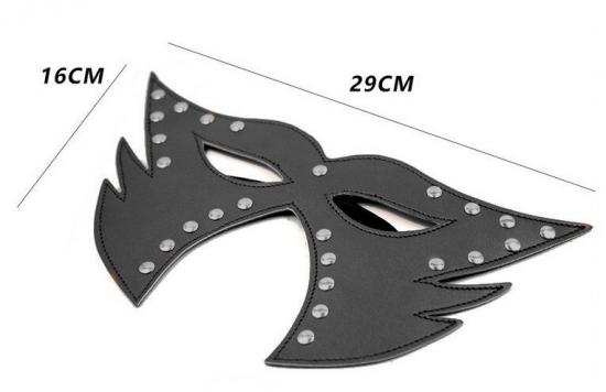 Catwoman Faux Leather Mask - Black