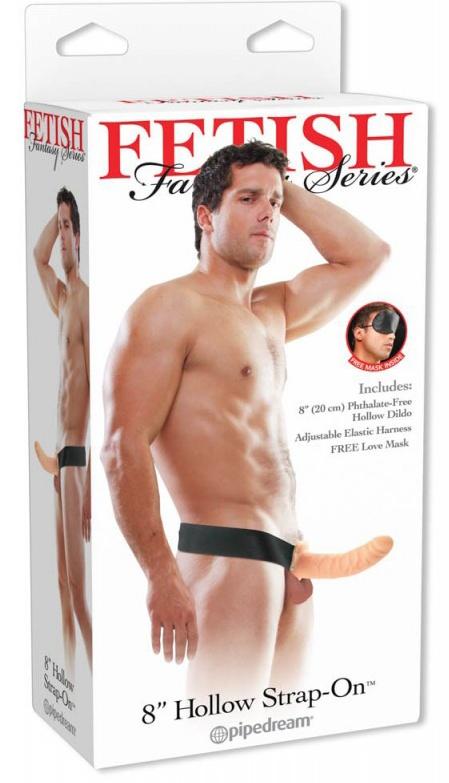 FF HOLLOW STRAP ON FLESH 20cm