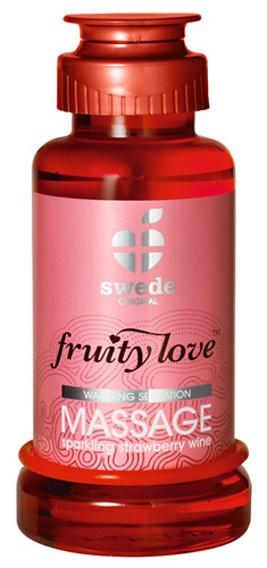 Masážní olej jahoda hřející Fruity love Massage Erdbeer