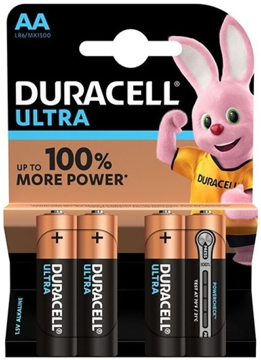 Duracell Ultra Power Battery AA LR6 4ks
