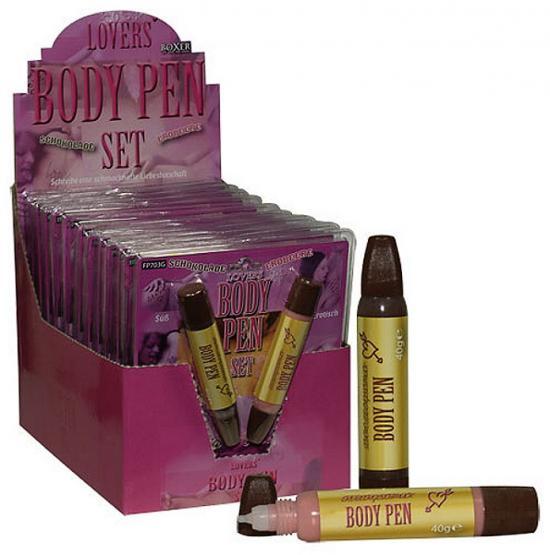 Body Pen 12er-Display - jedlá tělová popiska