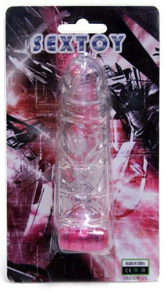 Gelový vibrační návlek na penis,12 cm