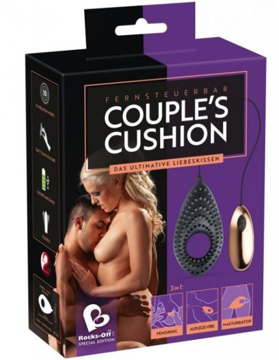 Kroužek na penis You2Toys COUPLES CUSHION vibrační black