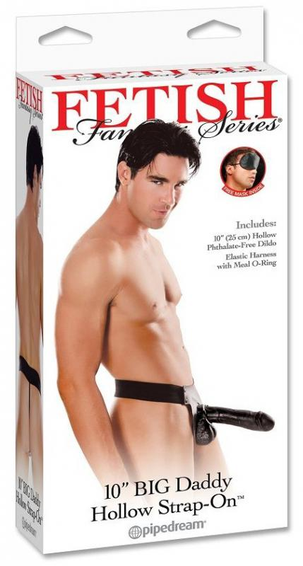"Fetish Fantasy 10"" Big Daddy Hollow Strap-On"