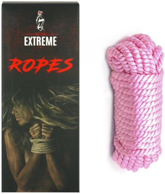 Bondage Silk Rope 5m - Pink