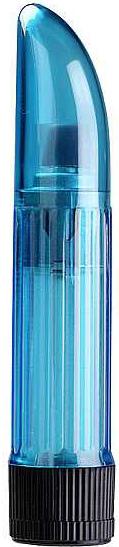 Crystal Clear Vibrator Blue