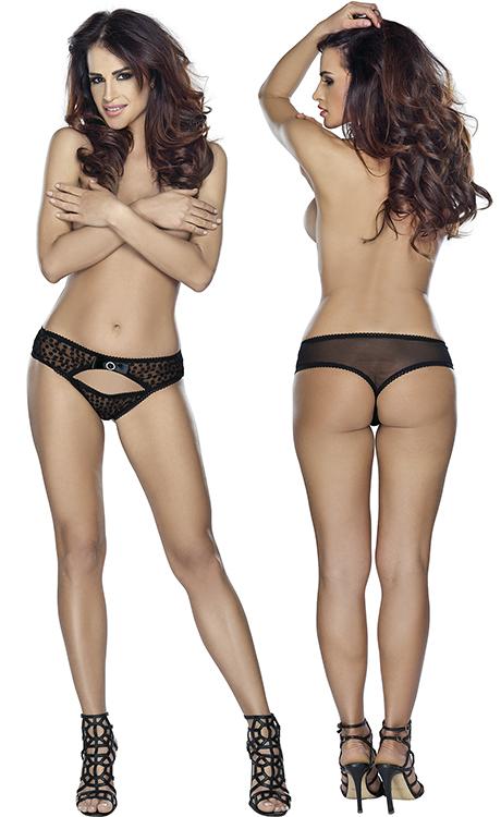 Thong black, vel. L-XL - kalhotky
