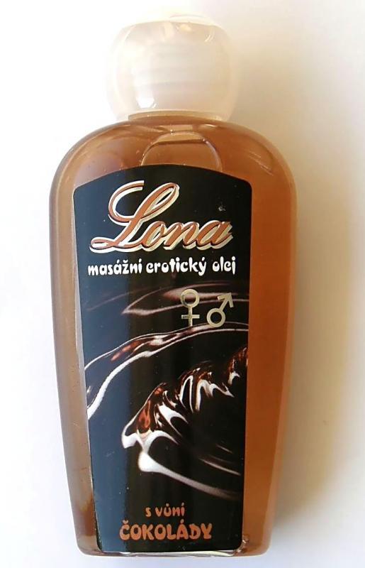 LONA masážní erotic silik.olej vůní čokolády