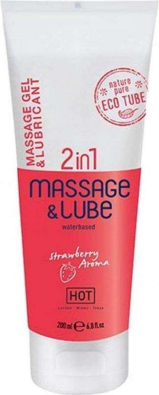 HOT Massage  Glide Gel 2 in 1 - 200 ml,
