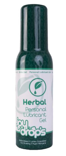 JoyDrops Herbal 100 ml, lubrikační gel s bylinkami