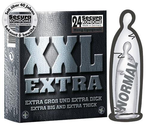 24 ks extra silných kondomů Secura XXL Extra