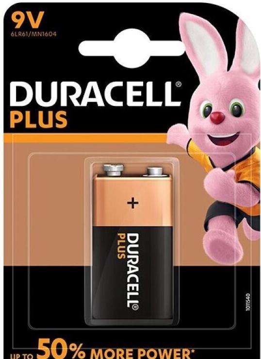 Duracell Plus Power Battery 9V LR61 1ks
