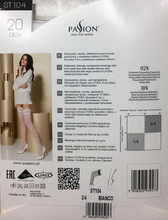 Passion ST104,bianco  vel.III-IV