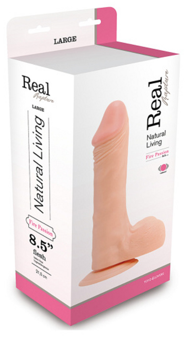 Real Rapture Vibe Flesh 8.5 Inch