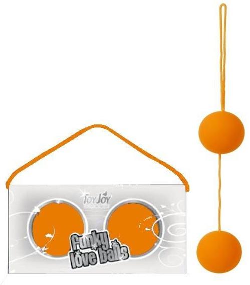 Oranžové Venušiny kuličky s měkčeným povrchem