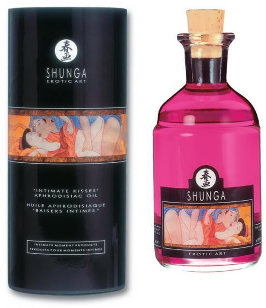 Jedlý masážní olej Shnuga Raspberry Feeling s afrodisiaky 100ml
