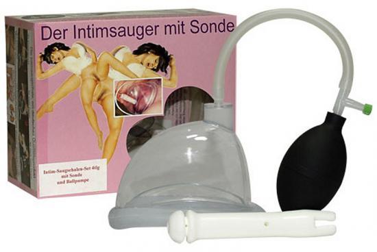 Vakuová vaginální pumpa se sondou Fröhle Intimsaugschale mit Sonde