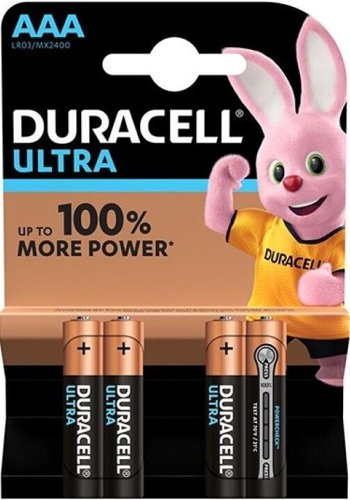 Duracell Ultra Power Battery Aaa Lr03 4ks