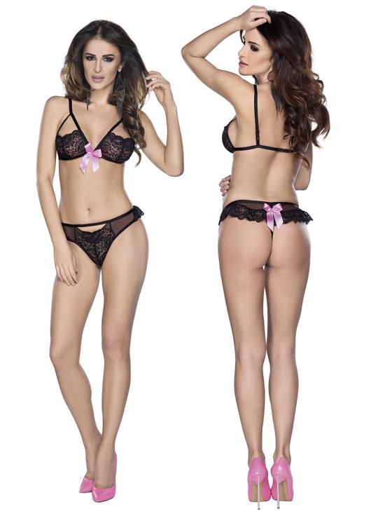 Bra string black vel. M