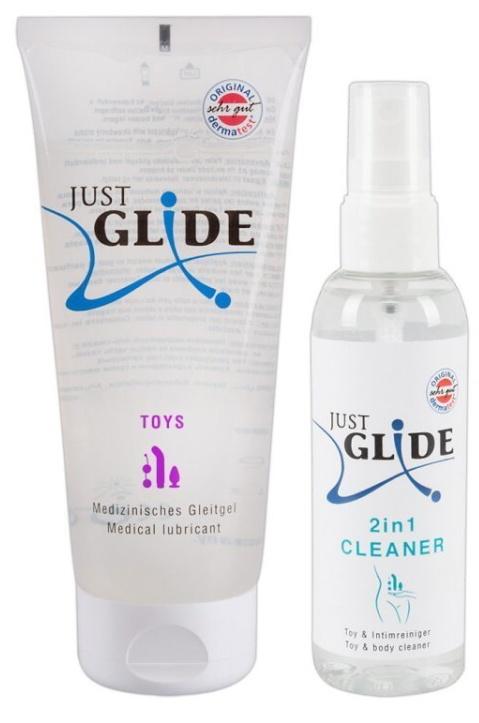 Just Glide Toy Care Set sada gel + čistič