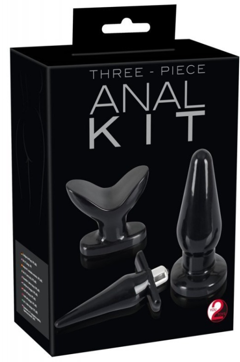 Black Three-piece Anal Kit