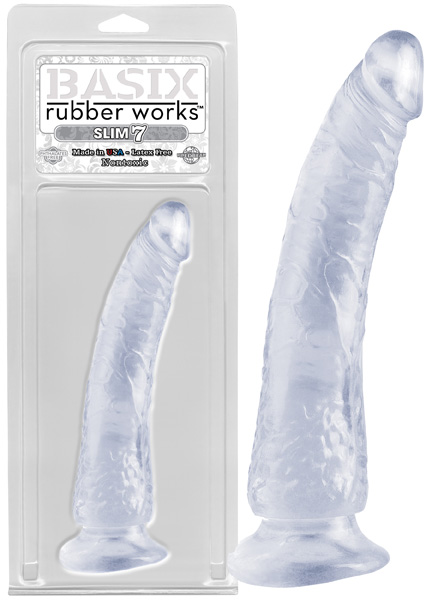 Dildo Basix - Rubber works clear