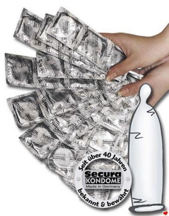 Kondomy - Secura transparent 1000 ks