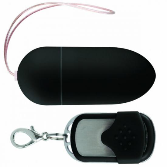 Glossy Remote Vibrating Egg  Black
