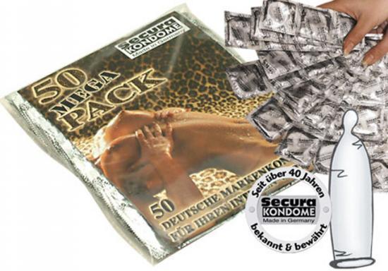 Neparfémované kondomy Secura Trans 50 ks