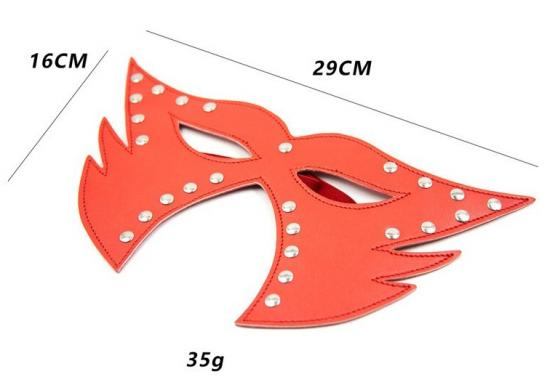 Catwoman Faux Leather Mask - Red