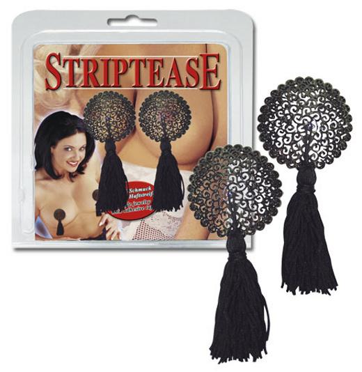 Striptease Tassels Black - střapce na bradavky