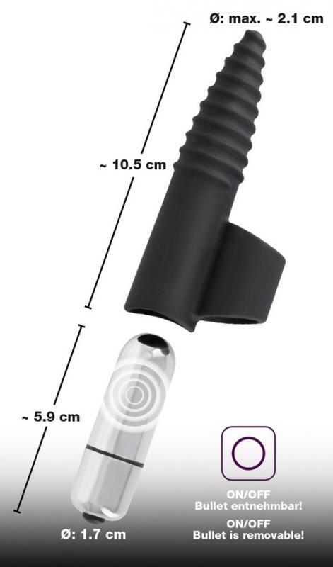 Black Velvets Finger Vibrator