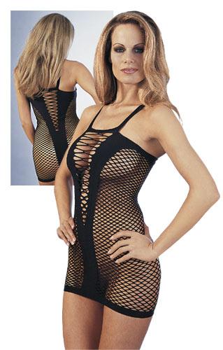 Černé sexy šaty, S/M