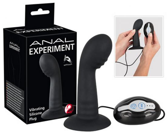 Anal Experiment Vibrating Silicone Plug