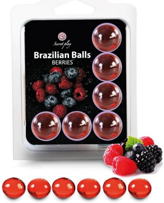 6 Hot Balls Lubricante Fruits